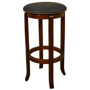 "American Heritage Billiards Bar Stools 24"" Walnut Princess Bar Stool"