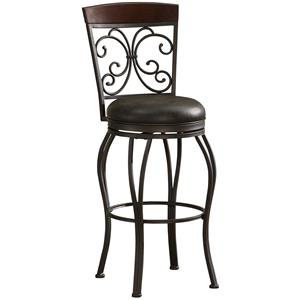 "26"" Amelia Barstool with Bonded Leather Swivel Seat"