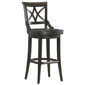 "26"" Fremont Counter Height Stool with Wood Swivel Seat"