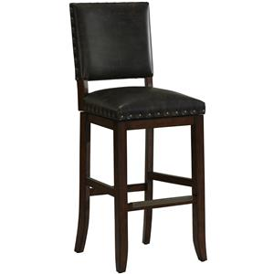 "26"" Sutton Barstool with Bonded Leather Swivel Seat"