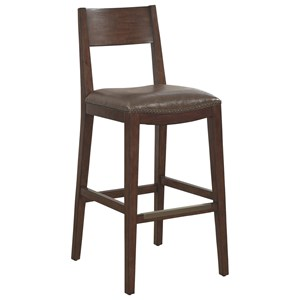 Ralston Bar Stool with Upholstered Seat