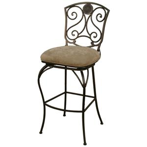 "American Heritage Billiards Bar Stools 24"" Canterbury Pepper Bar Stool"