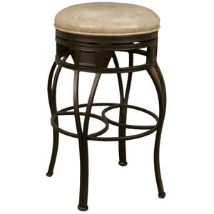 "American Heritage Billiards Bar Stools 24"" Backless Capri Wheat Bar Stool"