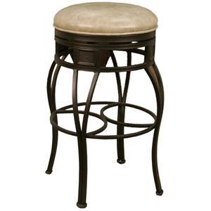 "American Heritage Billiards Bar Stools 24"" Backless Capri Wheat Bar Stool"