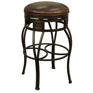 "American Heritage Billiards Bar Stools 24"" Backless Capri Bourbon Bar Stool"