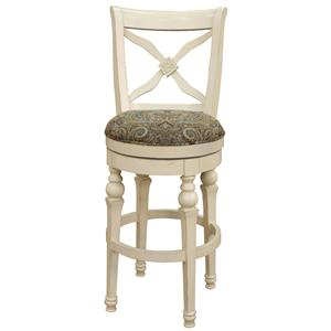 "American Heritage Billiards Bar Stools 24"" White Livingston Bar Stool"