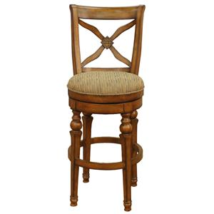 "American Heritage Billiards Bar Stools 24"" Sienna Livingston Bar Stool"