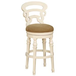 "American Heritage Billiards Bar Stools 24"" White Metropolitan Bar Stool"
