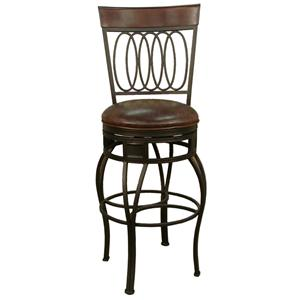"American Heritage Billiards Bar Stools 24"" Capri Bourbon Bar Stool"