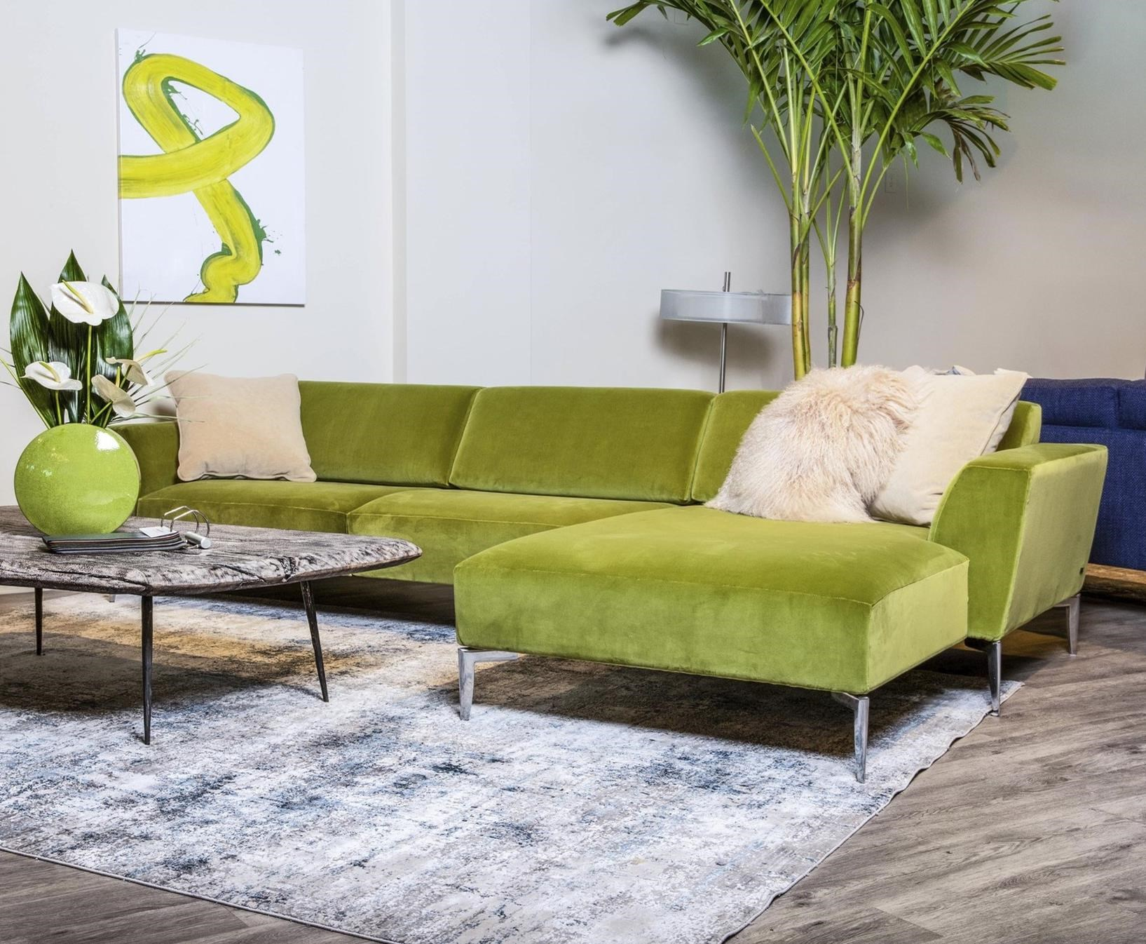 Adriana Sofa with Chaise by American Leather at Williams & Kay
