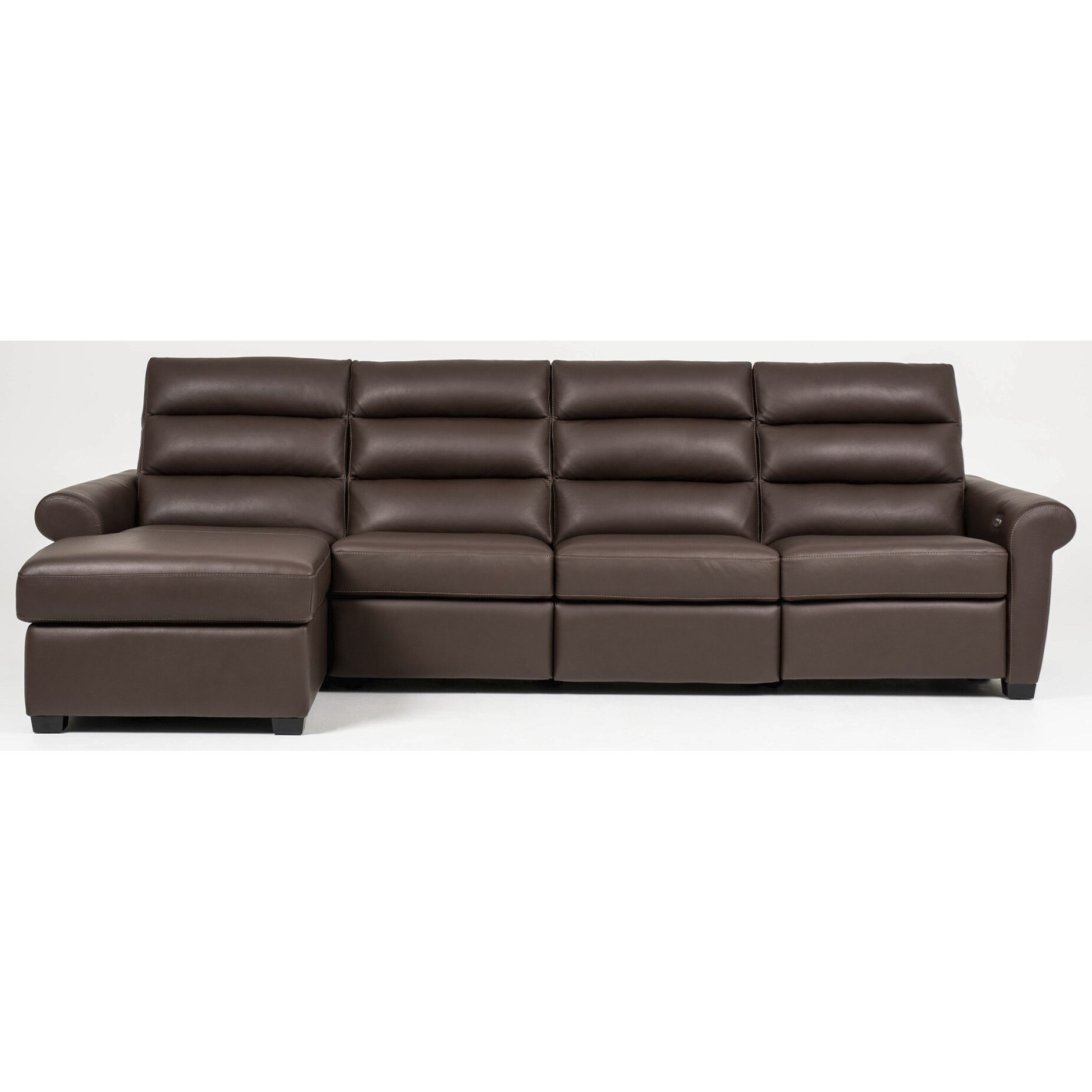 Austin Power Sofa with Chaise by American Leather at Baer's Furniture
