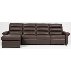 Transitional Power Sofa with Chaise