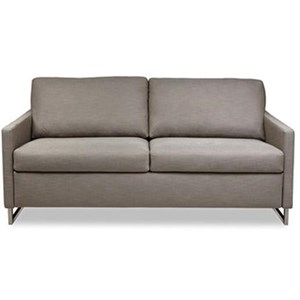 Contemporary Sofa with Brushed Stainless Steel Legs