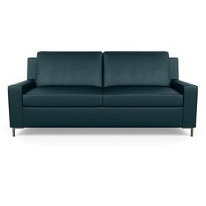 Contemporary Queen Sleeper Sofa Plus with Metal Legs