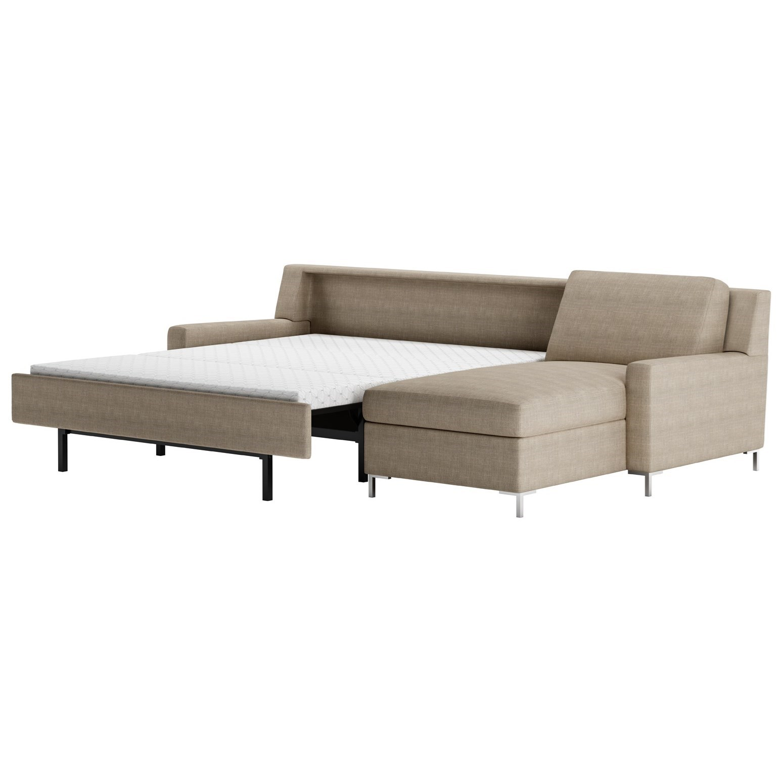Bryson 2 Pc Sectional Sofa w/ Sleeper & LAS Chaise by American Leather at Baer's Furniture
