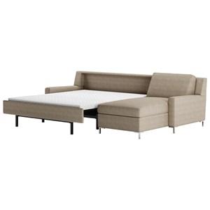 2 Pc Sectional Sofa w/ Sleeper & LAS Chaise
