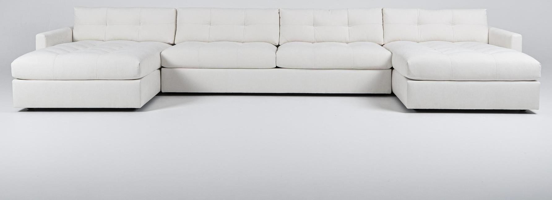 Carmet Sectional with 2 Chaises by American Leather at Baer's Furniture