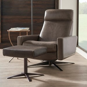 Pushback Chair and Ottoman