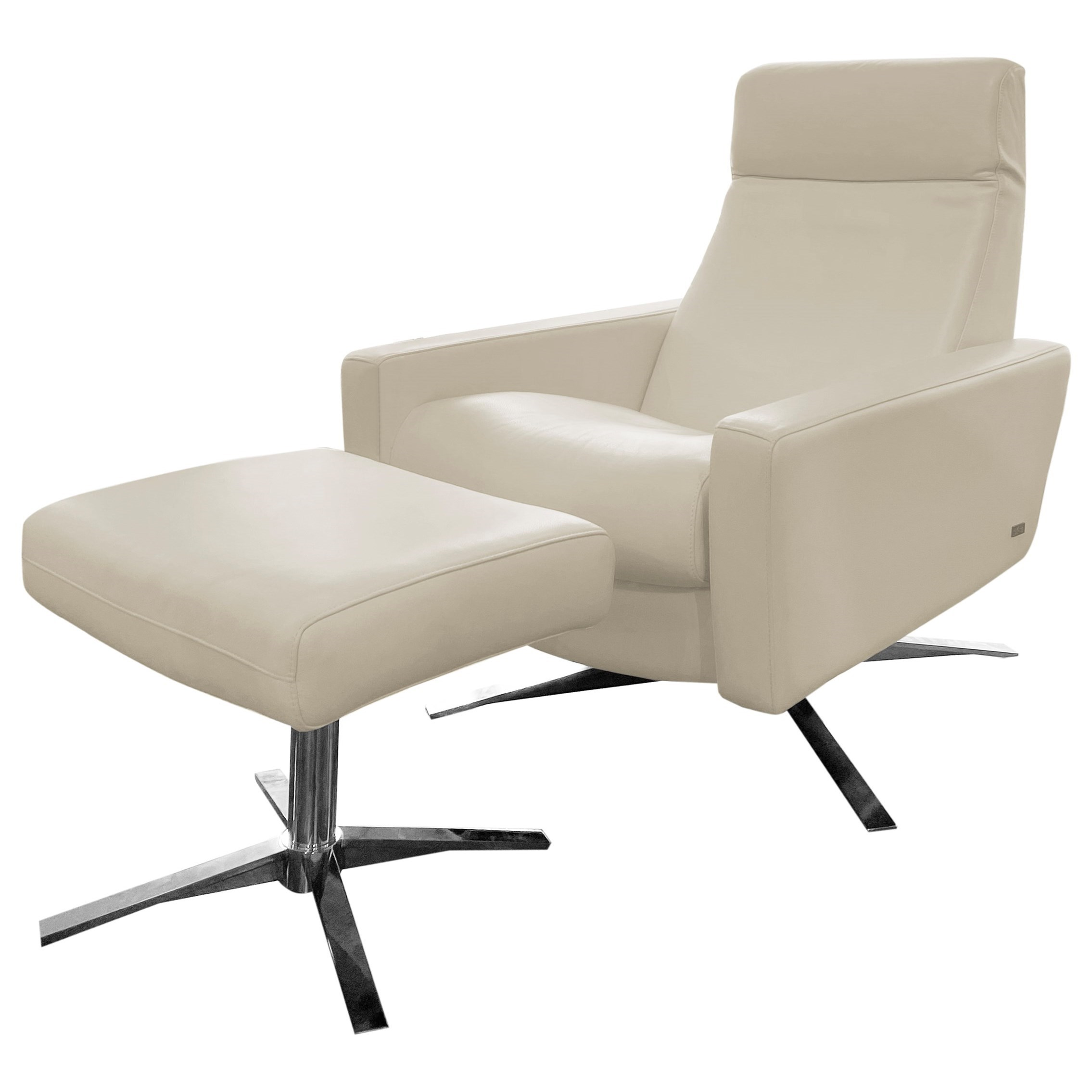 Cloud Pushback Chair and Ottoman by American Leather at C. S. Wo & Sons Hawaii
