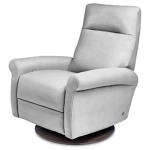 Contemporary Recliner with Rolled Arms