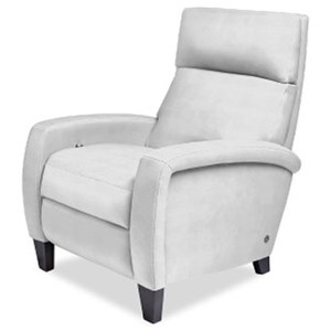 Contemporary Power Recliner with Track Arms