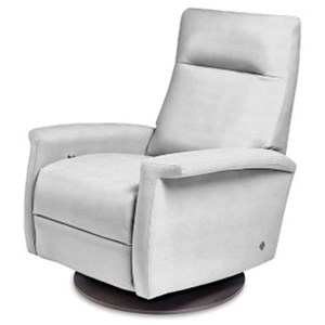 Contemporary Recliner with Key Arms