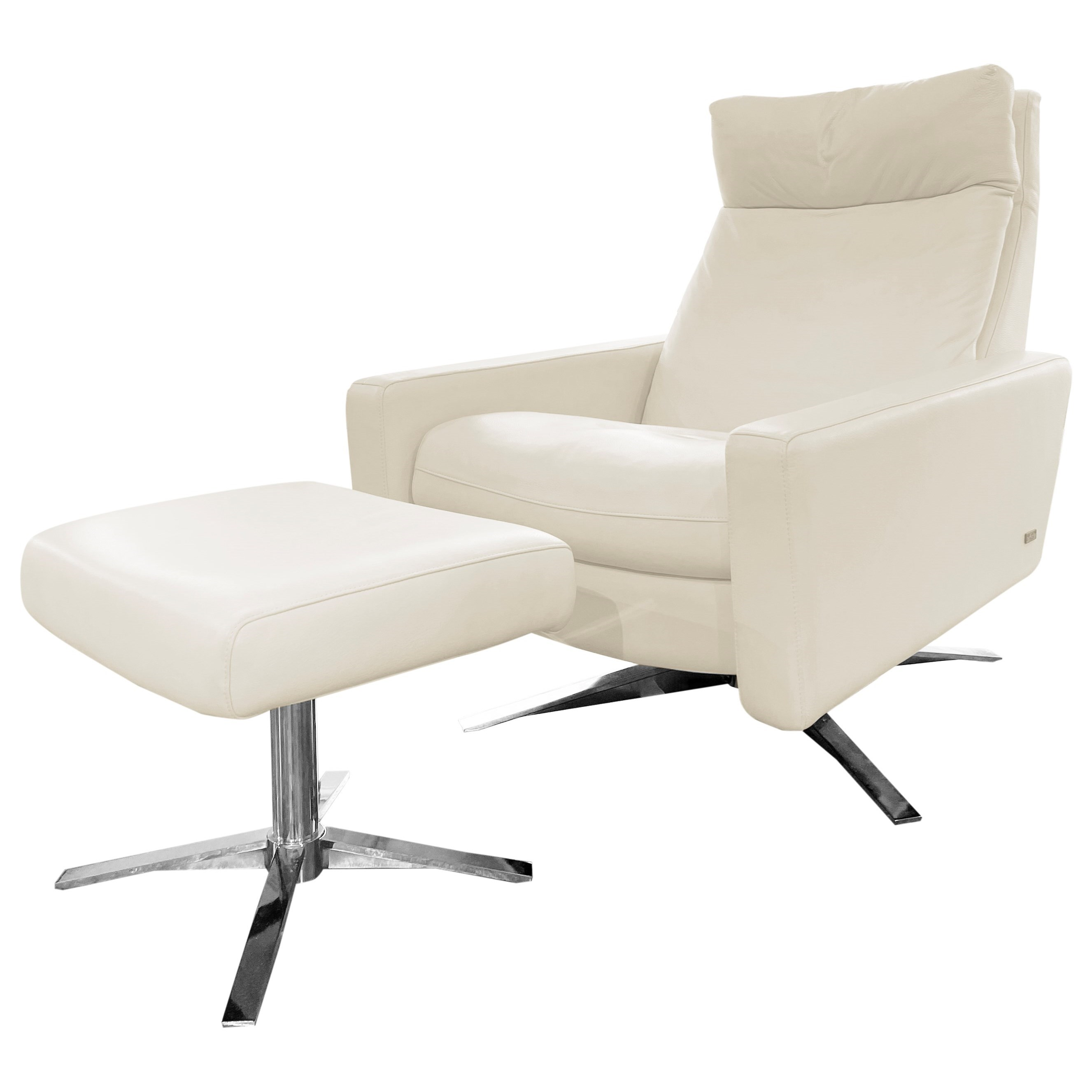 Cumulus Leather Chair and Ottoman by American Leather at Baer's Furniture
