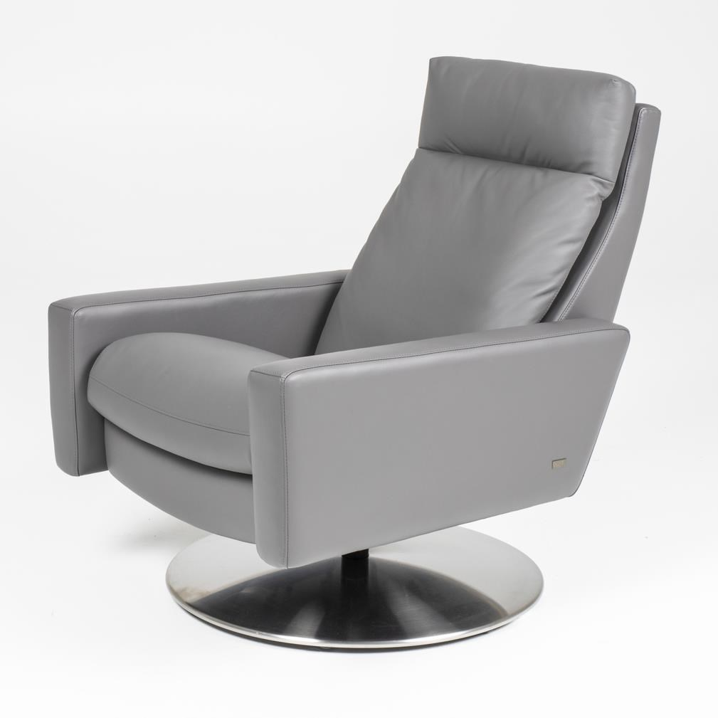 Cumulus Large Pushback Chair by American Leather at Baer's Furniture