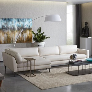 Petite Track Arm Sofa with Wide Chaise