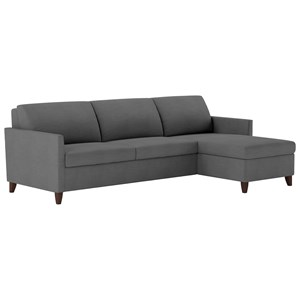 Two Piece Sectional Sofa with Full Sleeper and LAS Chaise