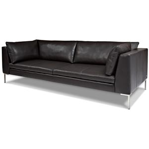 Contemporary Sofa with Stainless Steel Base