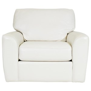 Casual Chair with Tapered Arms