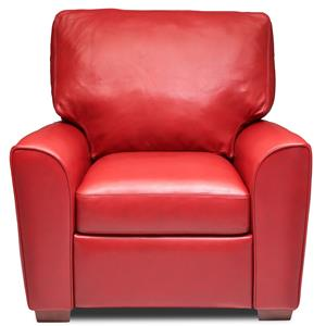 Casual Recliner with Block Feet