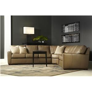Casual Two Sofa Sectional with Corner Section