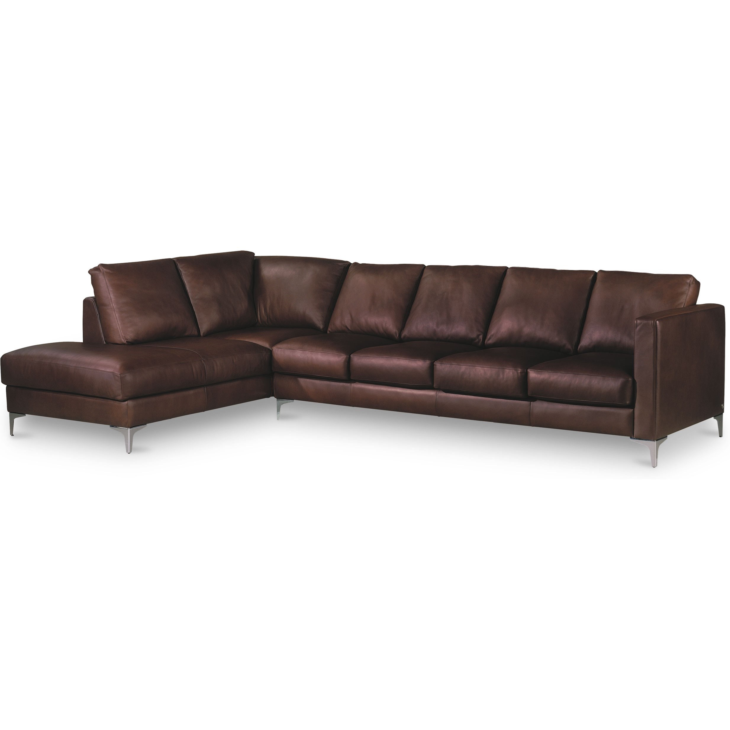 Kendall 5-Seat Sectional w/ Right Arm Sitting Chaise by American Leather at Jacksonville Furniture Mart