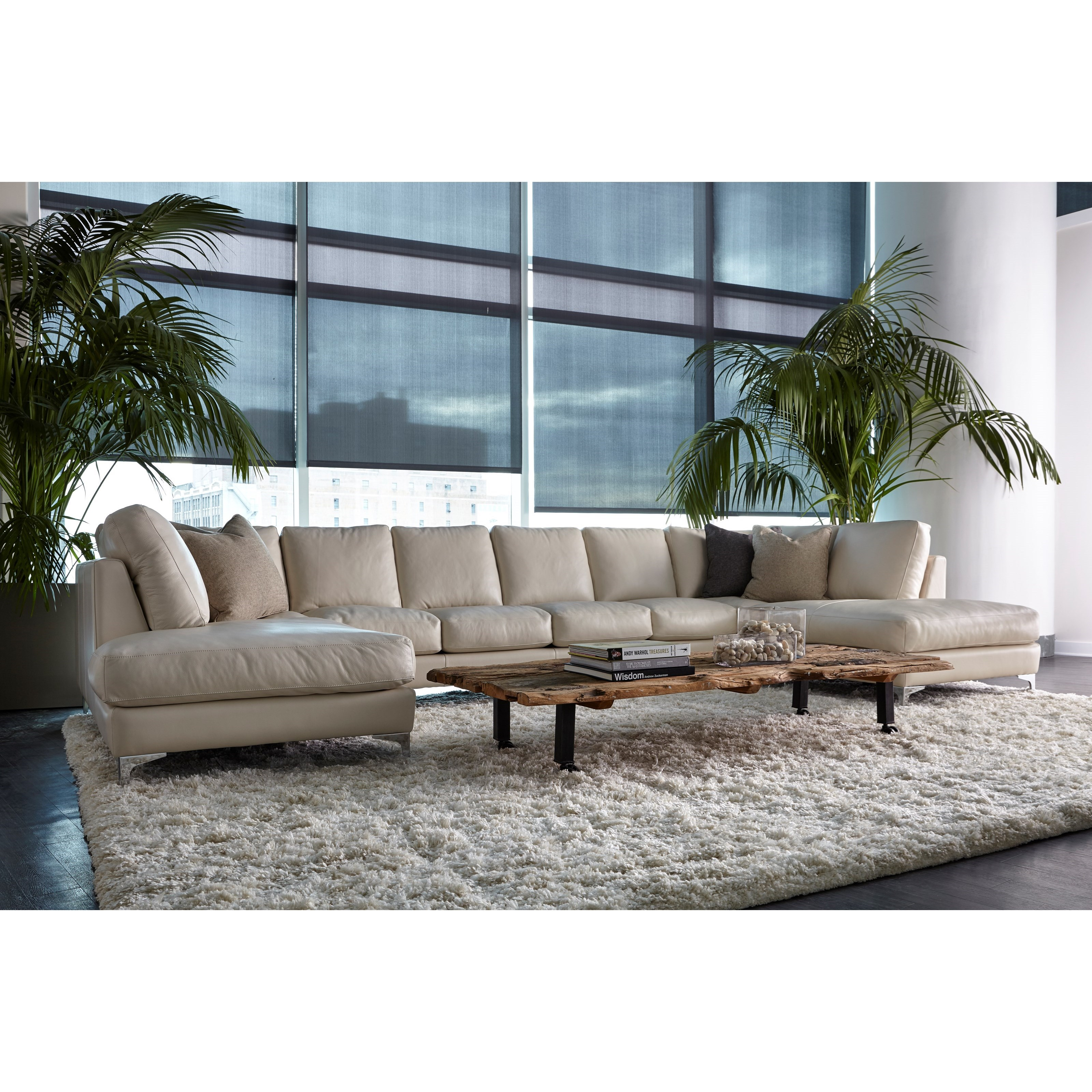 Kendall 6-Seat U-Shape Sectional by American Leather at Jacksonville Furniture Mart