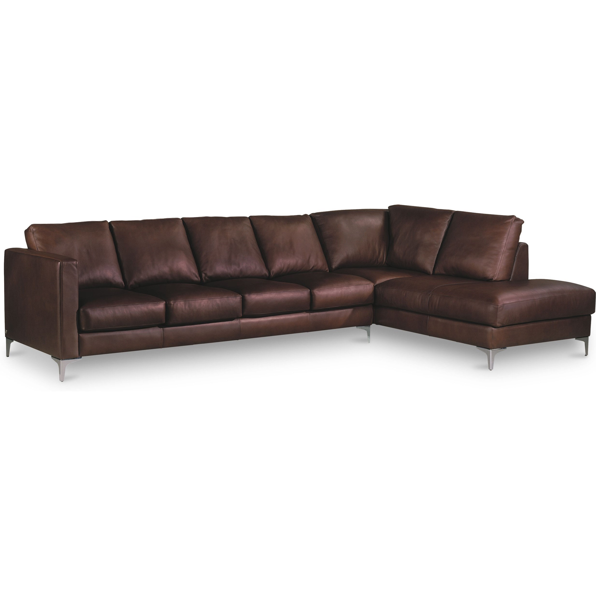 Kendall 5-Seat Sectional w/ Left Arm Sitting Chaise by American Leather at Story & Lee Furniture
