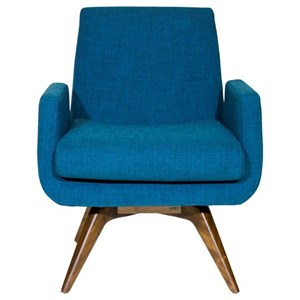 Mid-Century Modern Memory Swivel Chair with Splayed Legs