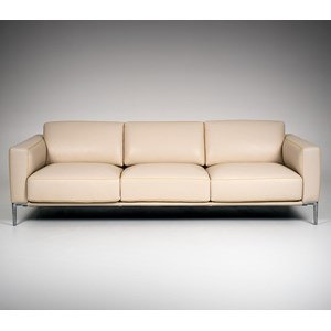 Contemporary Customizable Sofa with Metal Legs