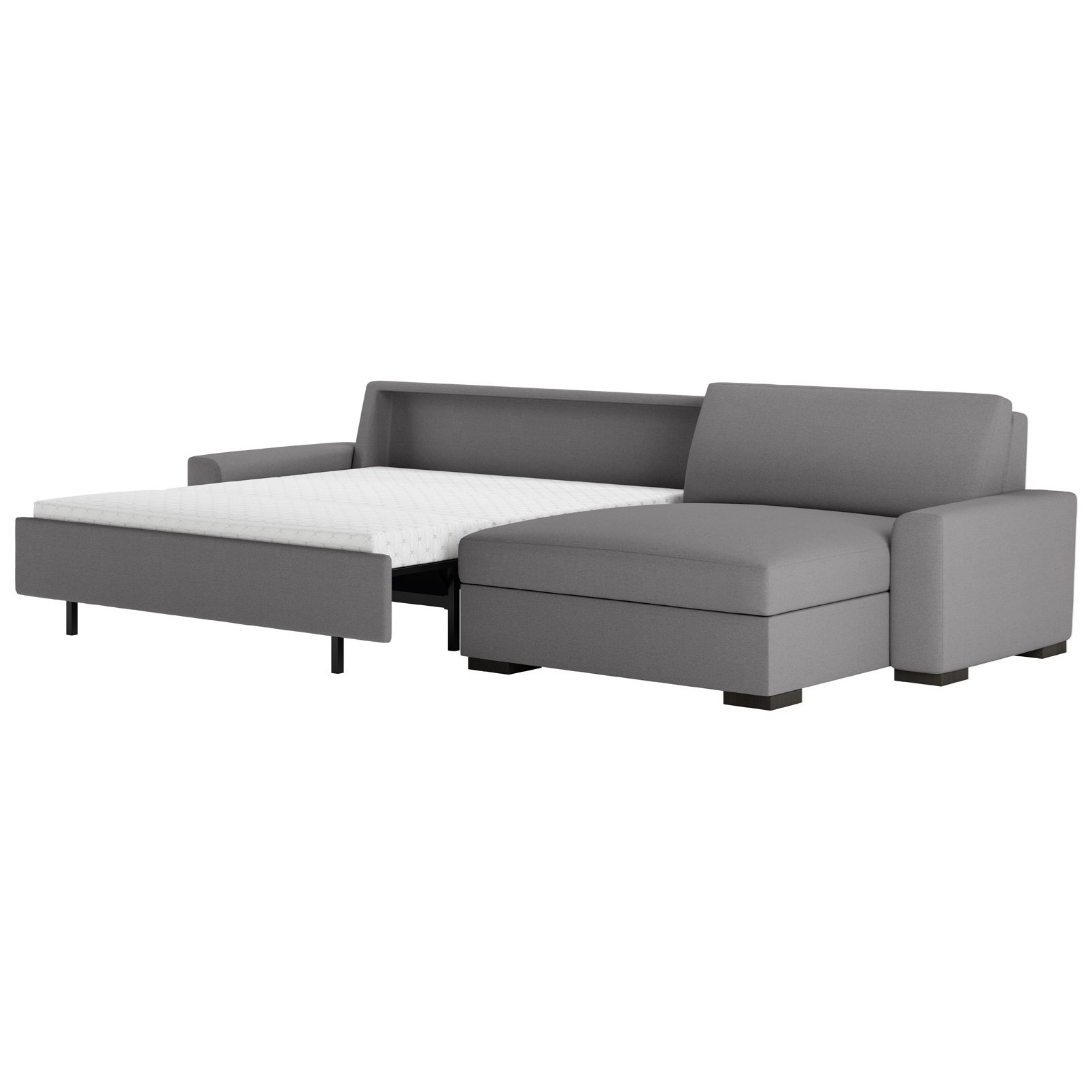 Olson 2 Pc Sectional w/ Queen Sleeper & Lge Chaise by American Leather at Baer's Furniture