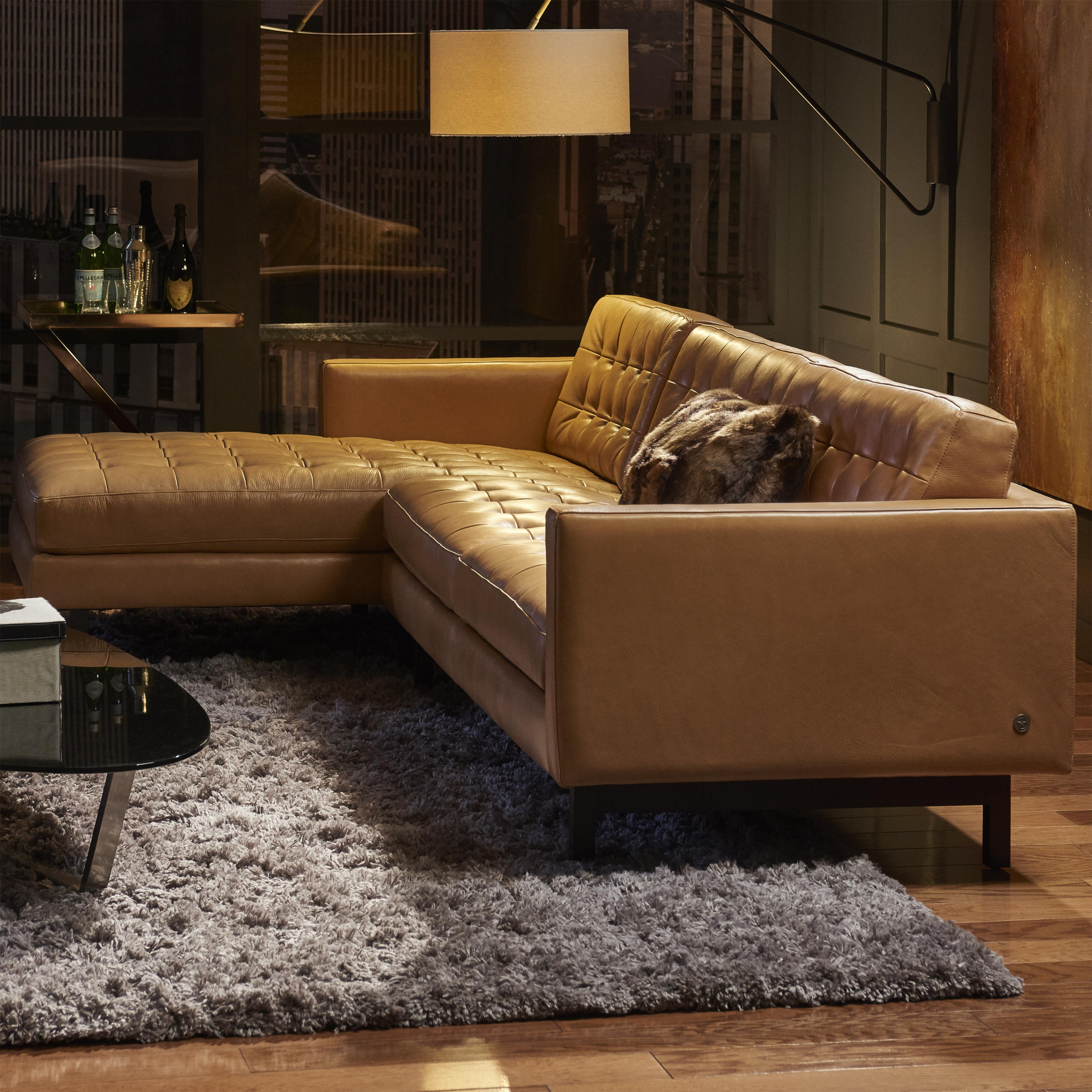 Parker Sectional Sofa by American Leather at Williams & Kay