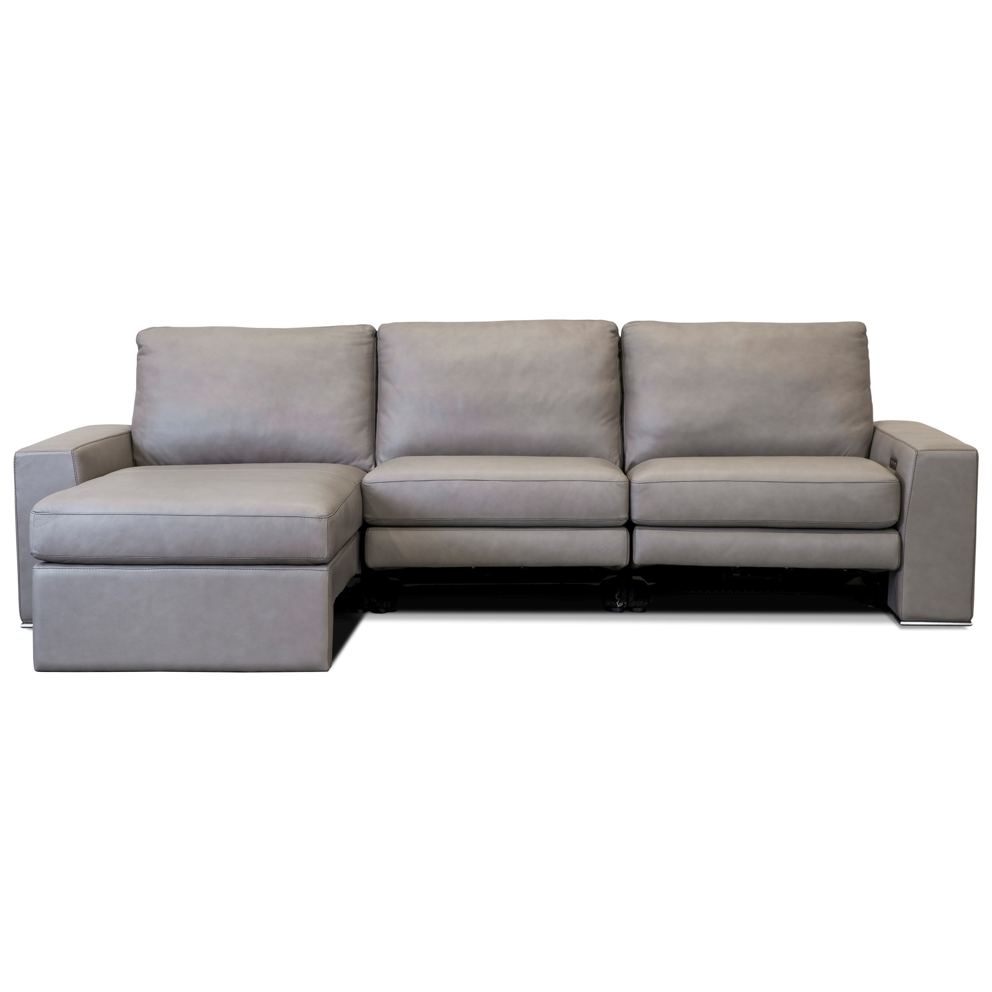 Paxton Reclining Sectional Sofa w/ LAF Chaise by American Leather at Sprintz Furniture