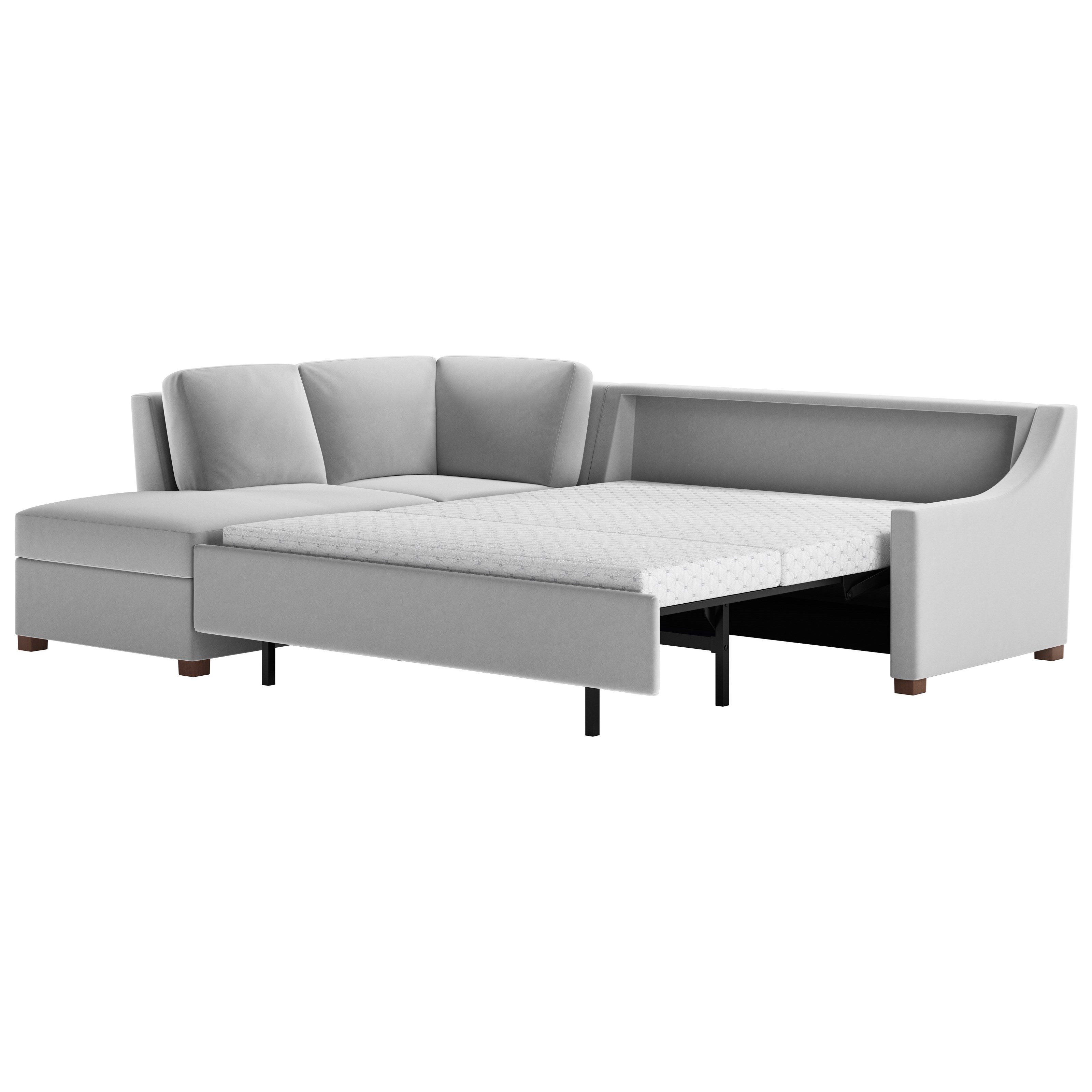 Perry 2 Pc Sectional Sofa w/ Queen Sleeper by American Leather at Saugerties Furniture Mart