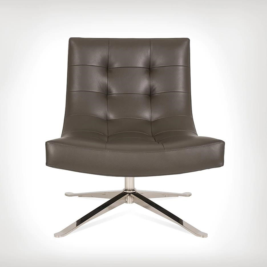 Petra Swivel Chair by American Leather at Williams & Kay