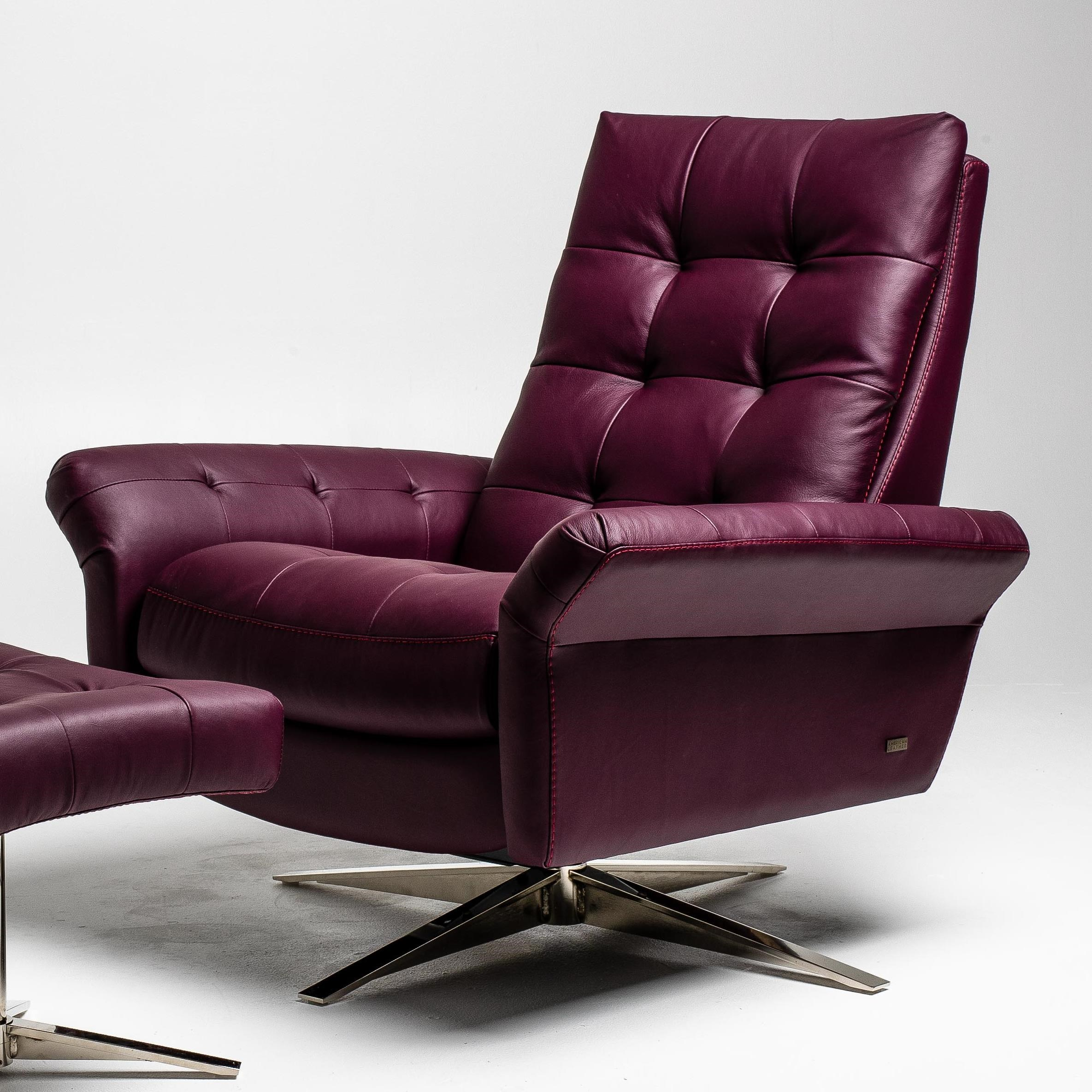Pileus Swivel Glider Recliner by American Leather at Williams & Kay