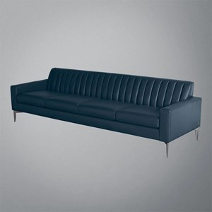 Contemporary Channel Tufted 4-Seat Sofa