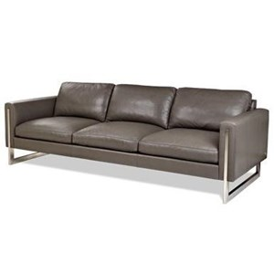 Contemporary Sofa with Metal Legs