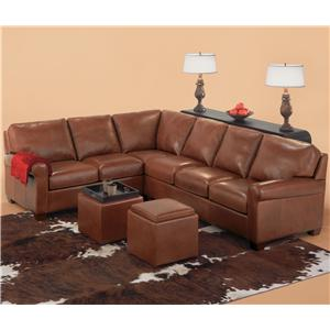 American Leather Savoy Contemporary Sectional
