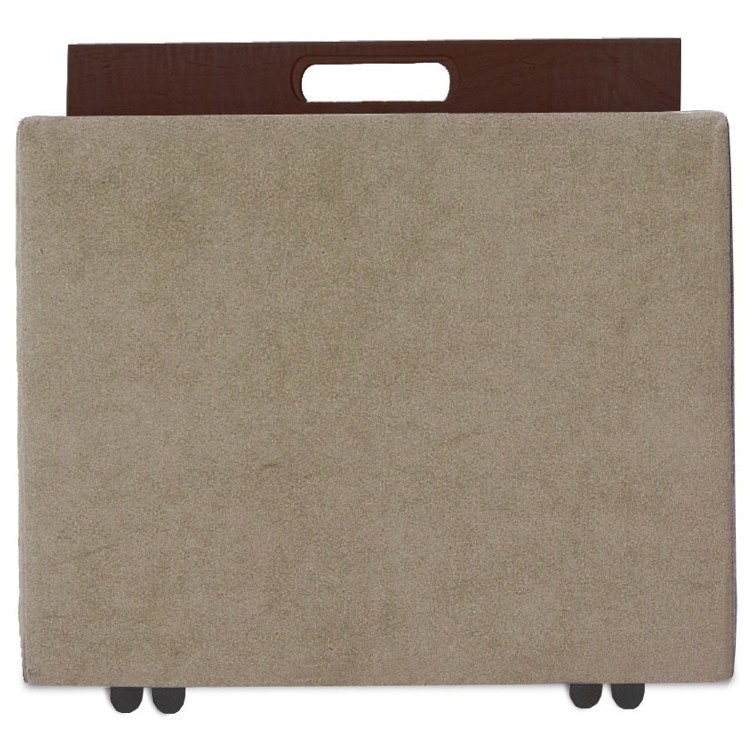 Uno Square Storage Ottoman by American Leather at Jacksonville Furniture Mart