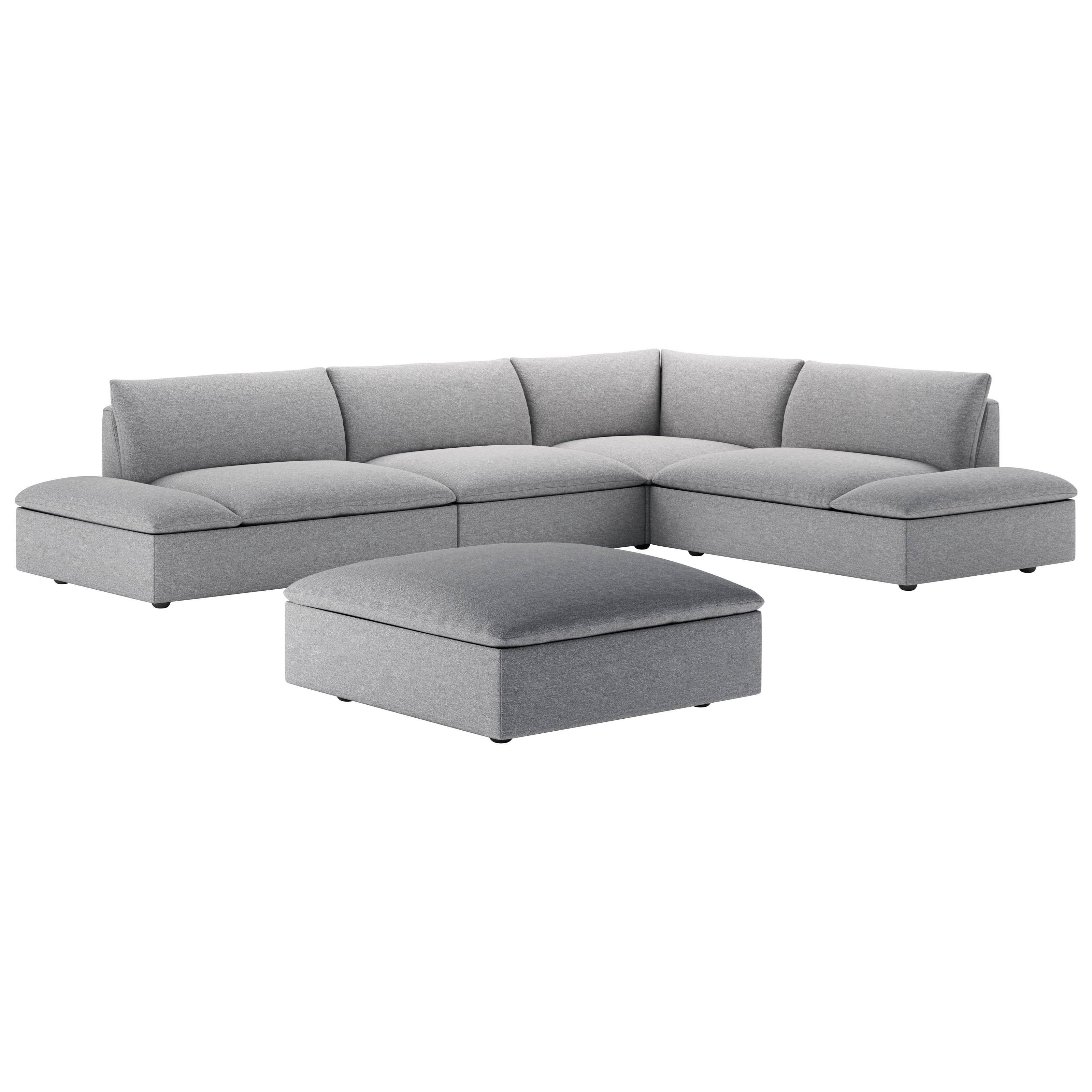 Versa 4-Piece Grand Sectional by American Leather at Williams & Kay